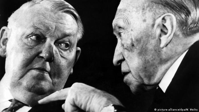 Ludwig Erhard y Konrad Adenauer.
