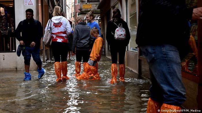 Italien Venedig Unwetter (Getty Images/AFP/M. Medina)