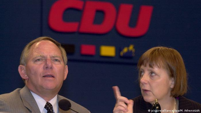 Wolfgang Schäuble y Angela Merkel.