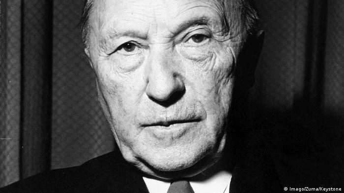 El excanciller Konrad Adenauer.