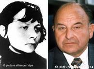 Başsavcı Siegfried Buback (sağda) ve katili Verena Becker
