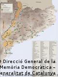Mapa de las fosas comunes franquistas en Cataluña.