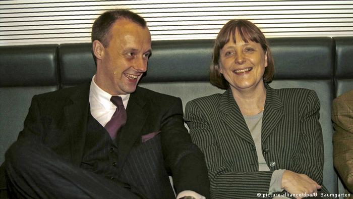 Angela Merkel and Friedrich Merz (picture-alliance/dpa/U. Baumgarten)