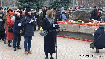 Участники акции Возвращение имен в Москве, 29 октября 2018 года