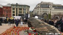 Teilnehmer der jährlichen Gedenkveranstaltung an die Opfer der politischen Repressionen, Moskau