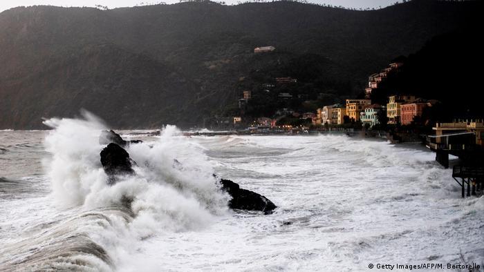 Storms on the Ligurian coast