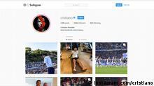 Screenshot Instagram Cristiano Ronaldo