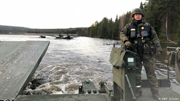 Norwegen Bundeswehr beim Nato-Manöver (DW/T. Schultz)