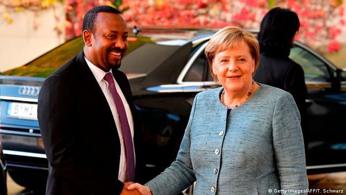 Premierminister Ahmed mit Bundeskanzlerin Angela Merkel