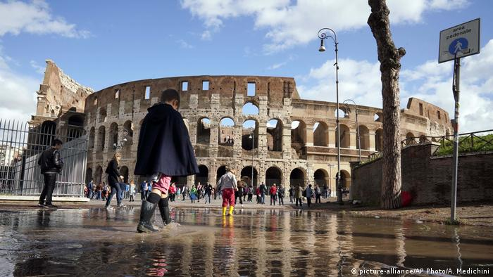 The storms came to Rome with high winds and flooding