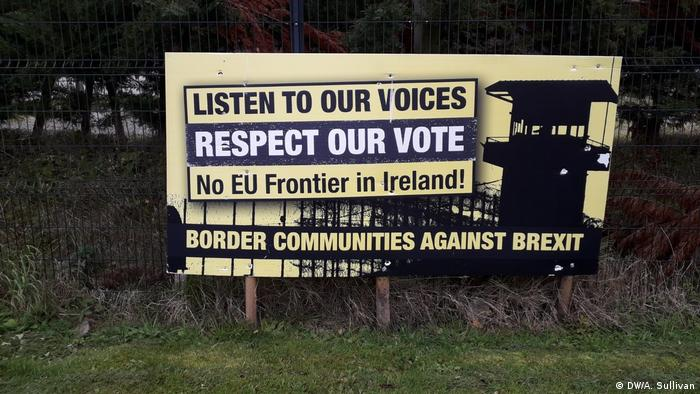 Protest sign in Ireland