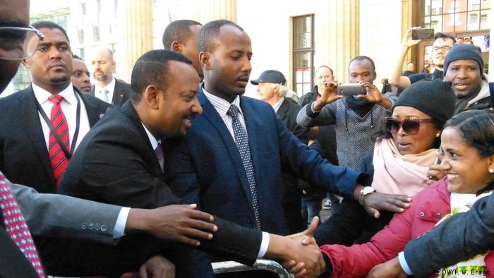 Deutschland Besuch Abiy Ahmed äthiopischer Premierminister (DW/T. W. Erago)