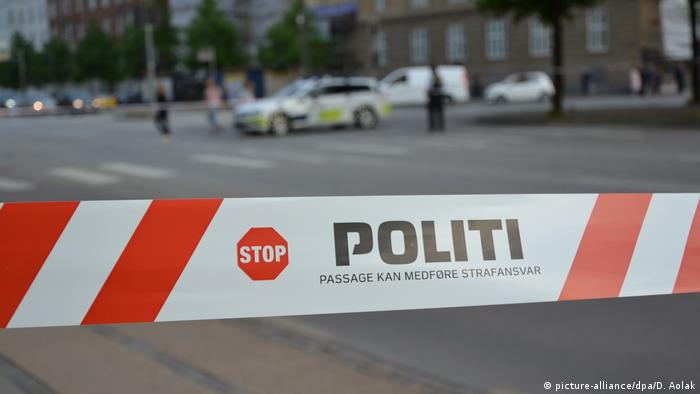 A band of tape to keep people away from a crime scene in Denmark