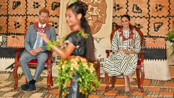 Südpazifik-Reise von Prinz Harry und Meghan Markle | Tonga (Reuters/D. Lipinski)