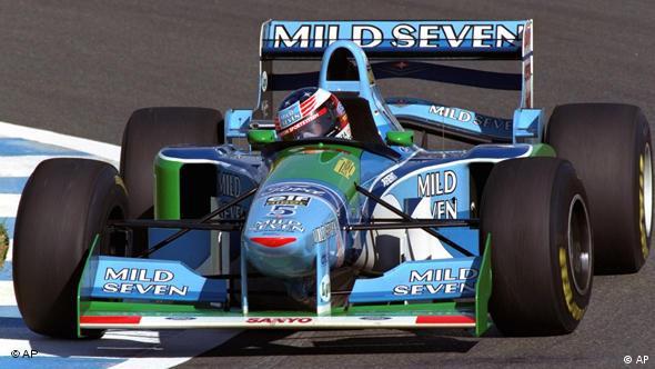 Michael Schumacher in seinem Benetton-Ford (Foto: AP)