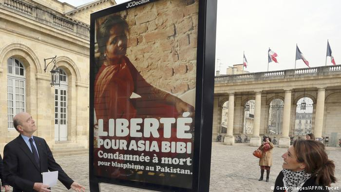 One of the international calls for Roman Catholic Asia Bibi to be freed