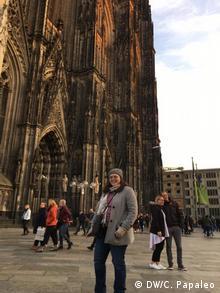 En su viaje desde Pasadena, California, Erika no perdió oportunidad de conocer la Catedral de Colonia.