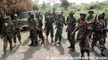 Kongo Rebellen im Hauptquartier
