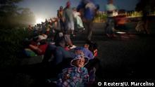 Mexiko Flüchtlingskarawane zur US Grenze - Glenda Escobar