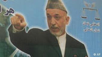 Election poster of Hamid Karzai