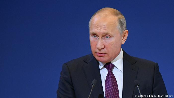 101/5000 Der russische Präsident Wladimir Putin spricht vor dem Weltkongress der im Ausland lebenden Landsleute in Moskau