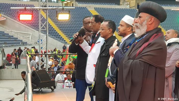 Frankfurt Ministerpräsident Äthiopien Abiy Ahmed in Commerzbank-Arena (DW/T. Waldyes)