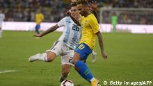 Fußball Argentinien vs Brasilien | Neymar