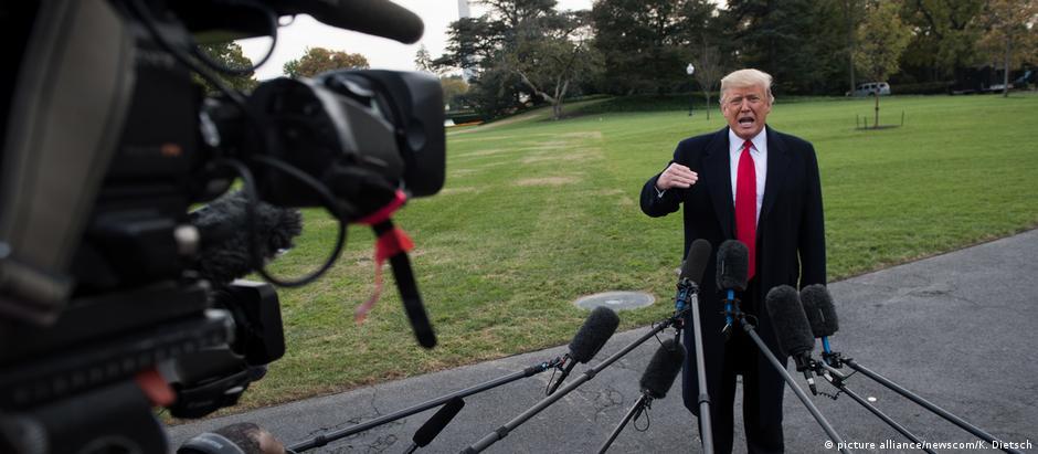 """""""Isso é uma invasão"""", afirmou o presidente dos EUA, Donald Trump, sobre as caravanas de migrantes"""