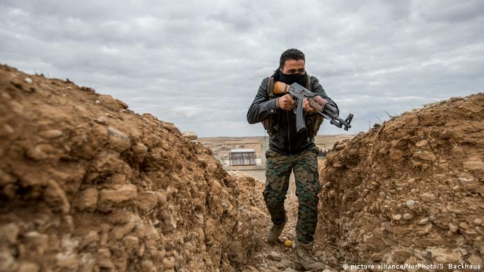 SDF forces in Manbij, Syria.