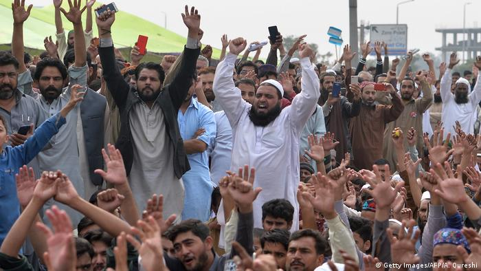 Pakistan Proteste nach Freispruch Asia Bibi (Getty Images/AFP/A. Qureshi)