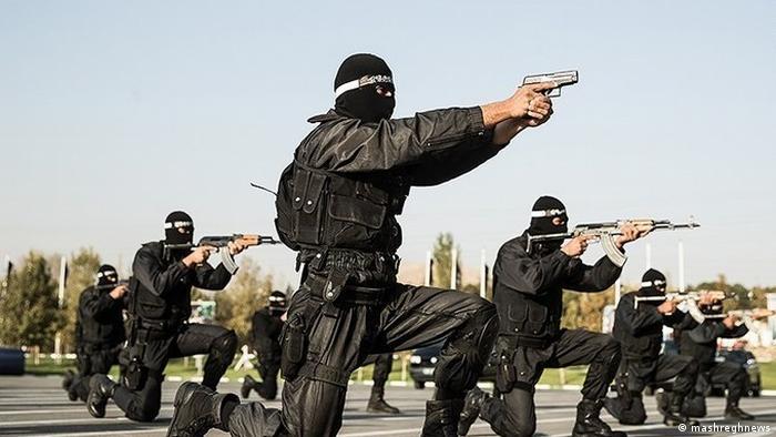 Eine Spezialeinheit der iranischen Polizei beim Training (Foto: mashreghnews)