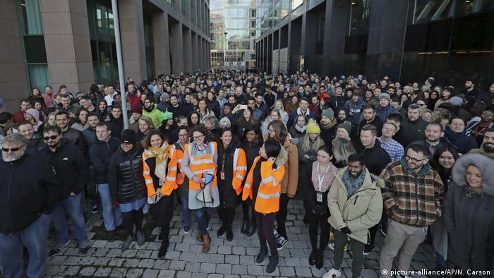 Google workers' walkout in Dublin