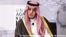 September 25, 2018 - New York, NY, U.S - ADEL BIN AHMED AL_JUBEIR, Foreign Minister for the Kingdom of Saudi Arabia, at the United Against Nuclear Iran (UANI) 2018 Iran Summit in New York City, New York on September 25, 2018  