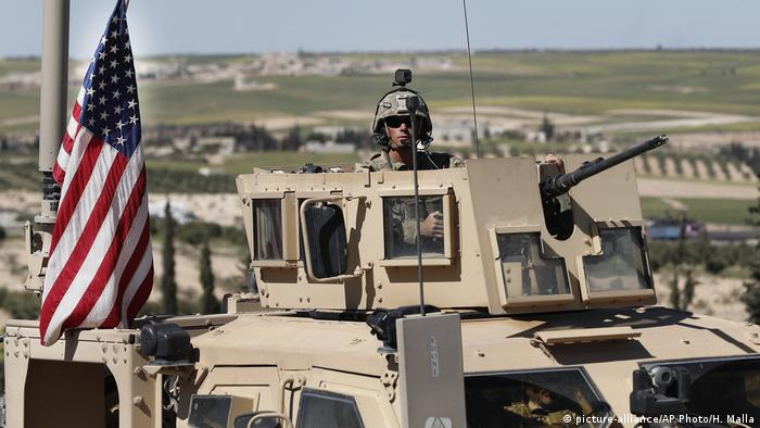 Syrien Manbidsch US Patrouille