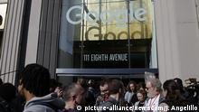 USA Google Protest-Streik in New York
