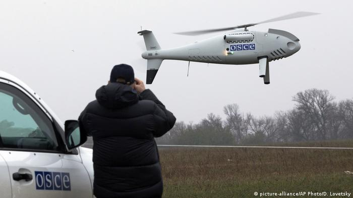 Ostukraine OSZE Beobachter Drone (picture-alliance/AP Photo/D. Lovetsky)