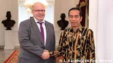 Indonesischer Präsident Joko Widodo trifft Wirtschaft und Energie Minister Peter Altmaier