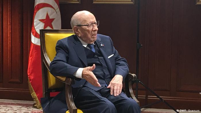 Tunesien Präsident Beji Caid Essebsi (DW/F. Quenum)