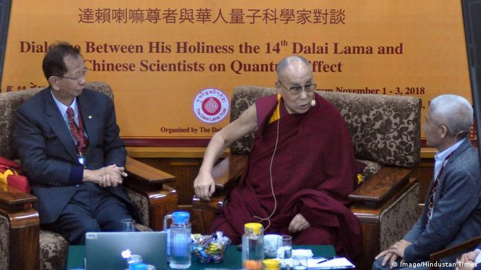 Indien Dharamshala Dalai Lama trifft Wissenschaftler aus China