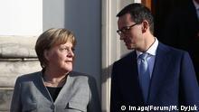 Angela Merkel in Warsaw Warszawa, Poland 02.11.2018. Chancellor Angela Merkel and Polish Prime Minister Mateusz Morawiecki in Warsaw. Fot. Michal Dyjuk / FORUM POLAND OUT midy_021118 PUBLICATIONxINxGERxSUIxAUTxONLY 021118125