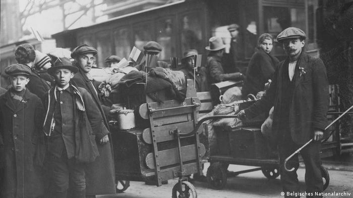 População de Bruxelas após o fim da Primeira Guerra