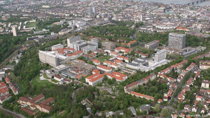 Univerzitetska klinika u Majncu - snimak iz vazduha