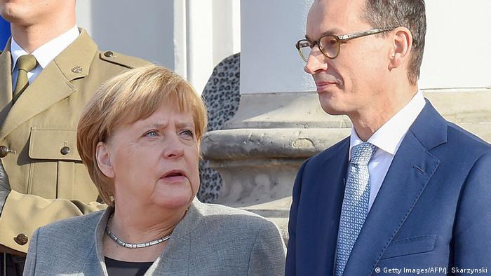 Polen Warschau Angela Merkel triftt Mateusz Morawiecki