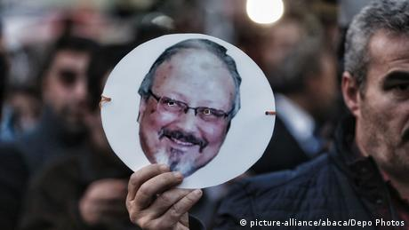 Türkei Istanbul   Protest gegen Mord an Jamal Khashoggi vor Konsulat Saudi-Arabiens (picture-alliance/abaca/Depo Photos)