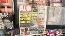 Serbien Boulevardblätter in einem Kiosk in Belgrad