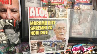 Front page of Alo! showing Sljivancanin