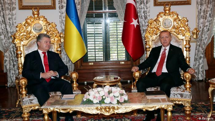 Türkei | Staatsbesuch ukrainischer Präsident Poroshenko trifft türkischen Präsidenten Erdogan (Reuters)