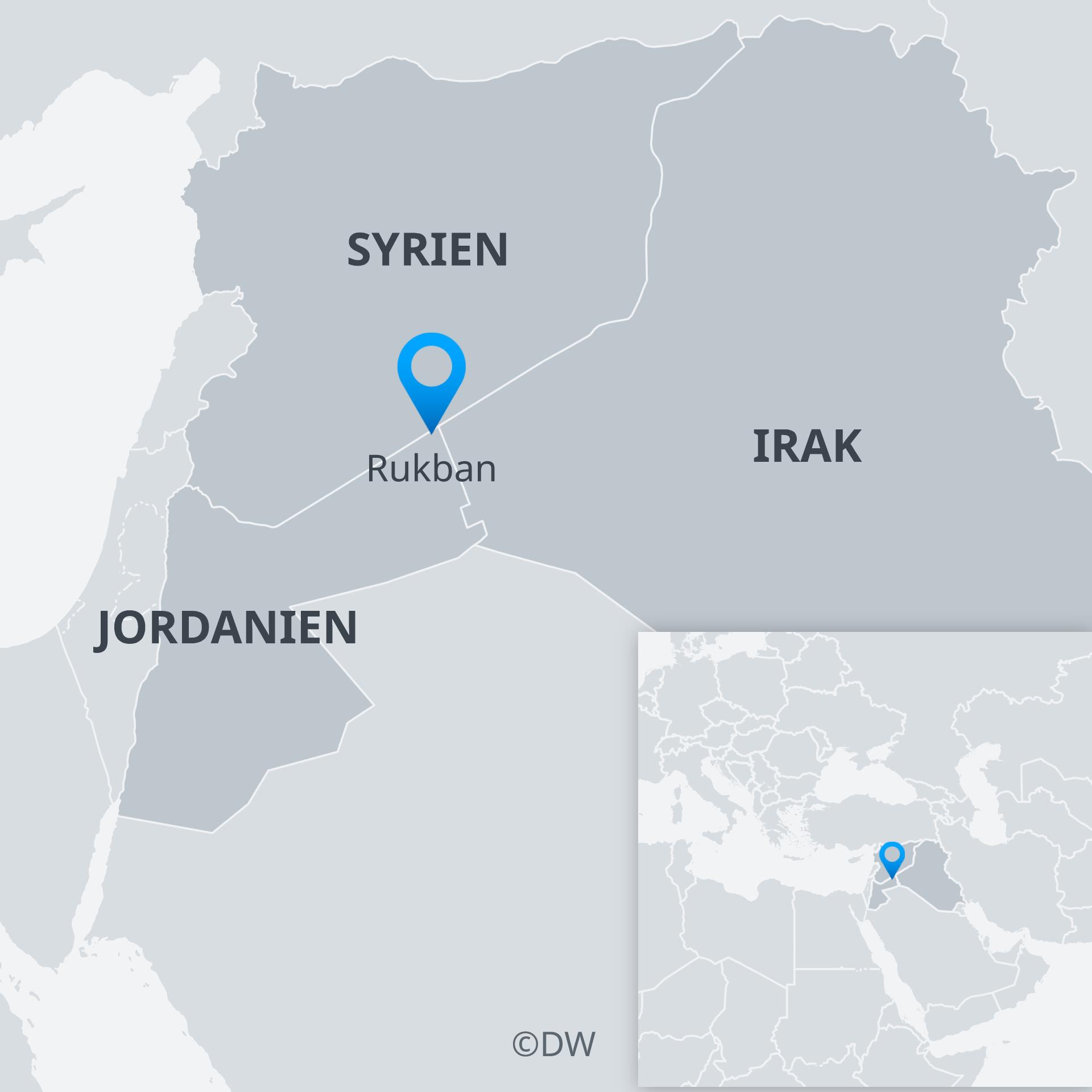 Karte Syrien Rukban Jordanien Irak DE