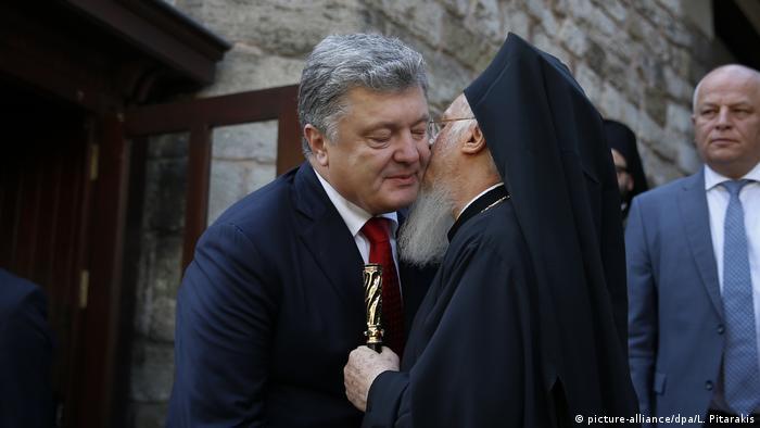 Президент України Петро Порошенко та константинопольський патріарх Варфоломій