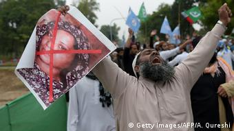 Pakistan Unruhen wegen Freilassung Christin Blasphemie ASWJ